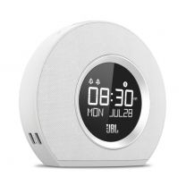 JBL Horizon - Bluetooth Clock Radio with USB Charging and Ambient Light - White