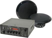 QTX Digital Stereo Amplifier + Speakers