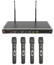 Chord NU4 Quad UHF Wireless Microphone System