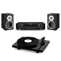 Pro-Ject Primary E Turntable + Kanto Audio YU4 - Active Powered Bluetooth Studio Speakers - Bundle
