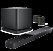 Bose Soundbar 700 + Bass Module 500 Wireless Subwoofer + Surround Sound Bundle - Black/Black