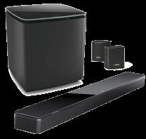 Bose Soundbar 700 + Bass Module 700 Wireless Subwoofer + Surround Speakers Bundle - Black