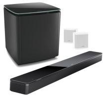 Bose Soundbar 700 + Bass Module 700 Wireless Subwoofer + Surround Speakers Bundle - White/Black