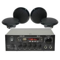 QTX Digital Stereo Amplifier + 4 Speakers