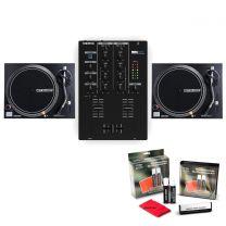 Twin Reloop RP-1000 MK2 + Reloop RMX-10BT + FREE DJ Vinyl Cleaning Kit