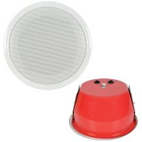 "Adastra 5.25"" 100V Ceiling Speakers With Fire Dome - Single - White"