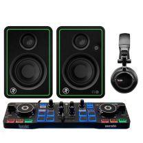 Hercules DjControl Starlight DJ controller + Mackie CR3-X Active Speakers + HDP DJ 45 Headphones