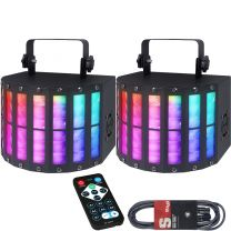 QTX DERBY 9 LED Light Effect Bundle