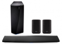 Denon DHT-S716H - Premium Soundbar w/ HEOS Built-in + DSW-1H - Wireless Subwoofer + Home 150 Wireless Smart Multiroom Speaker (Pair) - Bundle