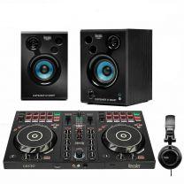 Hercules DJ Control InPulse 300  Controller + Smart 32 Bluetooth Active Speakers and Headphones