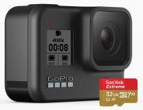 GoPro HERO8 Black - 4K60 Ultra HD HDR HyperSmooth 2.0 LiveSteam Camera + 32GB SD Card