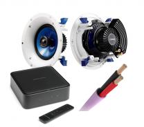 Harman Kardon Citation Amp + Yamaha NS-IC600 In-Ceiling Speakers Pair + Speaker Cable