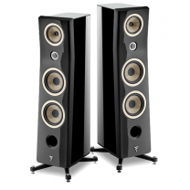Focal Kanta No3 - 3-way Floorstanding Loudspeaker (Pair) - Black Lacquer/Black High Gloss