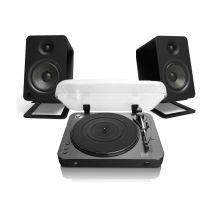 Lenco LBT-120 - Bluetooth Turntable + Kanto YU Active Speaker Bundle