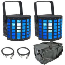 ADJ Mini Dekker Lighting Bundle + Bag & DMX Leads