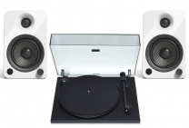 Pro-Ject Primary E Turntable + Kanto Audio YU4 - Active Powered Bluetooth Studio Speakers - Bundle