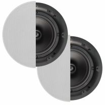 "Q Install Qi65C 6.5"" In-Ceiling Speakers Round Grill"