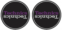 Technics Duplex 3 Slipmats - Black, Silver & Purple Antistatic Slipmats for Turntables (Pair)