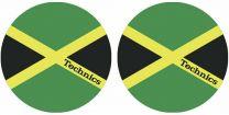 Technics MOON Jamaika - Jamaican Flag Antistatic Slipmats for Turntables (Pair)