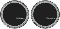 Technics Strobe 3 - Black & Silver Antistatic Slipmats for Turntables (Pair)