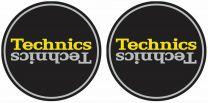 Technics Duplex 4 - Black, Silver & Yellow Antistatic Slipmats for Turntables (Pair)