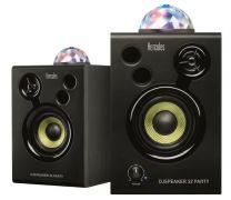 Hercules DJ Monitor 32 Party - Active Powered Studio Desktop Speaker Built in Lightshow