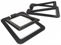 Kanto Audio S2 (Small) - Desktop Speaker Stands for YU2 Speakers (Pair) - Aluminium Black