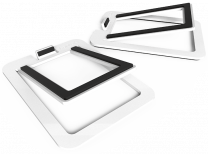 Kanto Audio S2 (Small) - Desktop Speaker Stands for YU2 Speakers (Pair) - Aluminium White