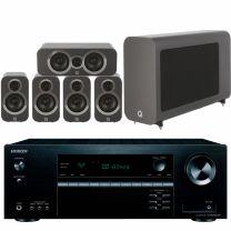 Onkyo TX-SR393DAB AV Receiver + Q Acoustics 3010i 5.1 Cinema Pack