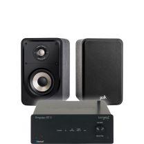 Tangent Ampster BT II HiFi Amplifier + Polk S15E Compact Satellite Surround Speakers