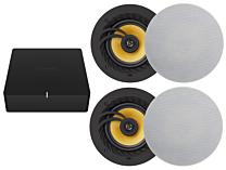 "Sonos Port and Lithe Audio 6.5"" Bluetooth 5.0 Ceiling Speaker (Pair) Bundle"