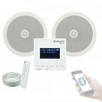 Adastra WA-215 Wall Mount Amplifier with USB/SD/FM Bluetooth + Speaker Bundle