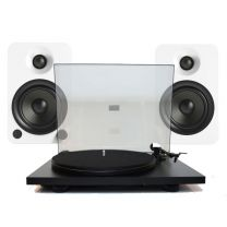 Pro-Ject Primary E Turntable + Kanto Audio YU4 Active Bluetooth Speaker Matt White Bundle