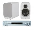 Q Acoustics 3020i Bookshelf Speakers + Pioneer SX-S30DAB Network Stereo Receiver